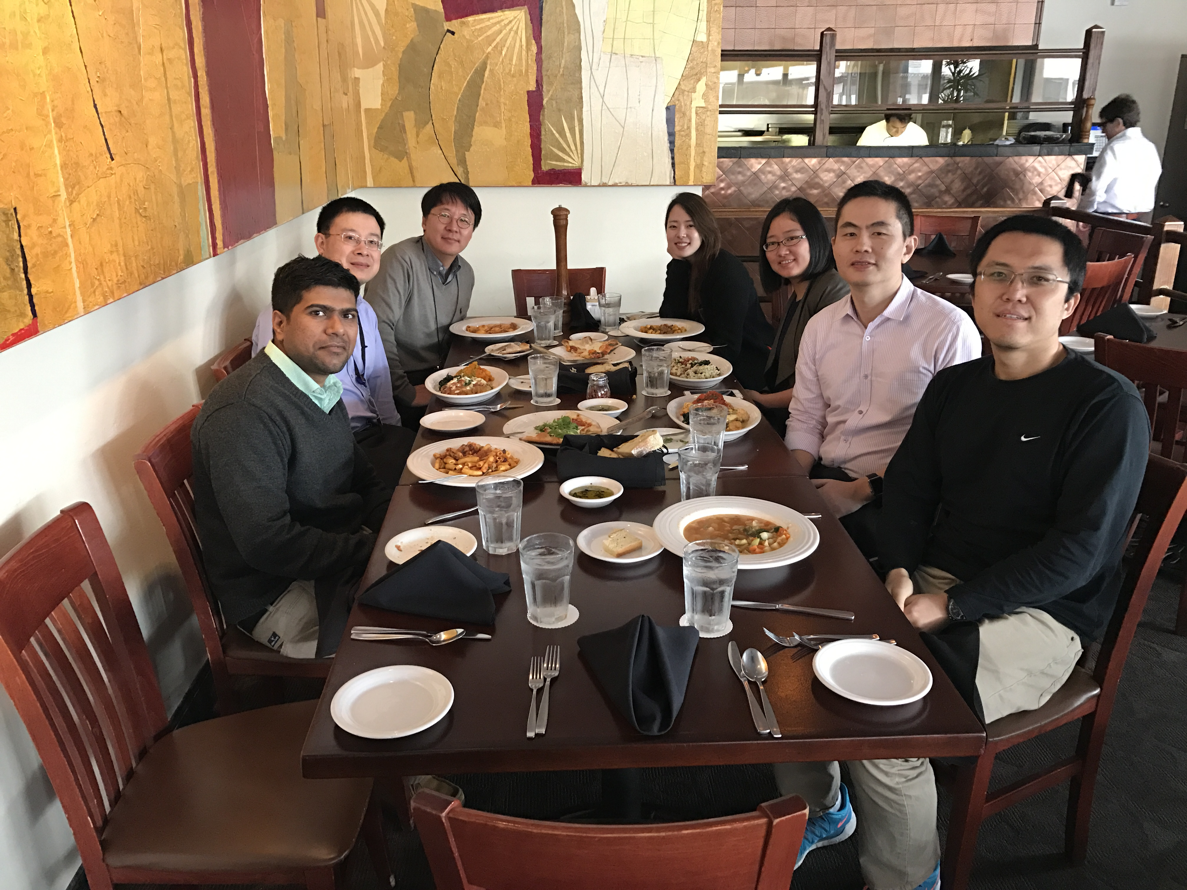 Having lunch with Professor Lee and Jessie from Korea University