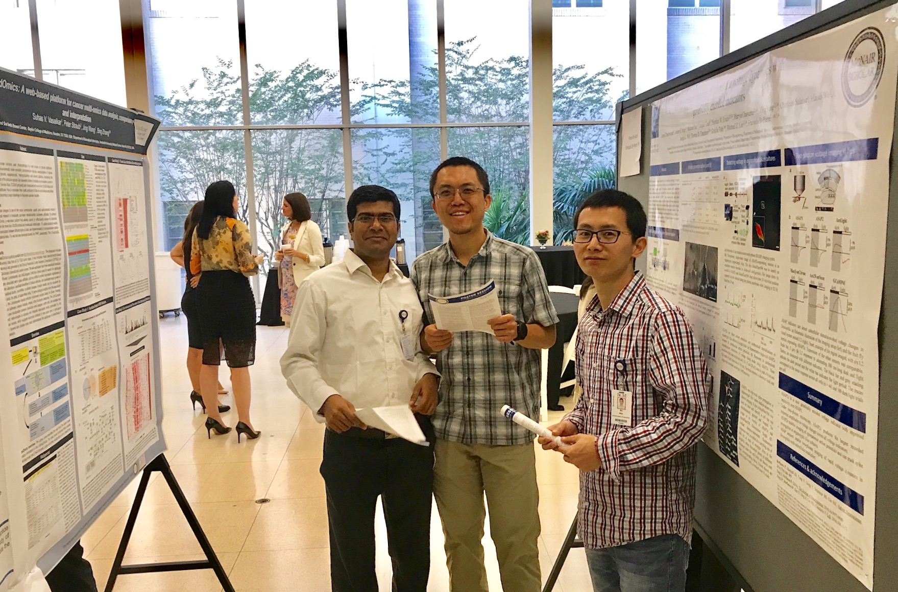 Lab members at the McNair Symposium